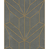 This item: Mixed Materials Gray and Wood Geometric Wallpaper