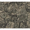 This item: Menswear Torque Metallic and Black Removable Wallpaper