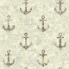 This item: Nautical Living Brown and Aged Silver Sheen Anchor Away Wallpaper: Sample Swatch Only
