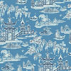 This item: Waverly Classics I Peaceful Temple Removable Wallpaper Blue Wallpaper- Sample Swatch Only