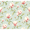 This item: Inspired by Color Blue 3-Inch Wide Stripe Magnolia Branch Wallpaper: Sample Swatch Only
