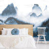 This item: Navy and White Majestic Mountains Peel and Stick Mural