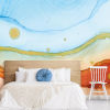 This item: Splendor Art Gallery Blue and Orange Sea Foam Peel and Stick Mural