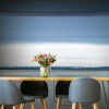 This item: Splendor Art Gallery Blue and White Watercolor Horizon Peel and Stick Mural