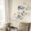This item: Deco Black and White Flower Scroll Peel and Stick Wall Decals