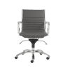 This item: Dirk Gray 27-Inch Low Back Office Chair