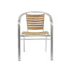 This item: Shirley Teak and Aluminium 22-Inch Arm Chair, Set of 2