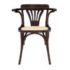 This item: Adna Walnut 24-Inch Arm Chair