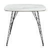 This item: Alisa White and Black 35-Inch Dining Table