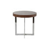 This item: Oliver Walnut and Stainless Steel 22-Inch Side Table