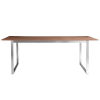 This item: Alvarado Walnut and Stainless Steel 84-Inch Rectangular Dining Table