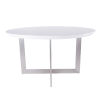 This item: Tosca Gloss White and Stainless Steel 54-Inch Round Dining Table
