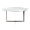 This item: Tosca White and Stainless Steel 54-Inch Round Dining Table