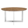 This item: Tosca Walnut and Stainless Steel 54-Inch Round Dining Table