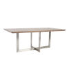 This item: Tosca Walnut and Stainless Steel 79-Inch Rectangle Dining Table