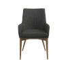 This item: Calais Charcoal 22-Inch Arm Chair, Set of 2