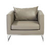 This item: Megara Taupe 33-Inch Lounge Chair