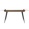 This item: Esmoriz Walnut, Clear and Black 63-Inch Dining Table