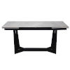 This item: Mateo Gray and Black 94-Inch Extension Dining Table