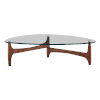 This item: Ledell Clear and Walnut 52-Inch Coffee Table
