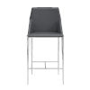 This item: Kasen Gray 20-Inch Counter Stool