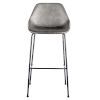 This item: Emerson Dark Gray Leatherette Bar Stool, Set of 2