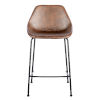This item: Milo Brown Leatherette Counter Stool, Set of 2