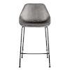 This item: Milo Dark Gray Leatherette Counter Stool, Set of 2