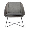 This item: Emerson Dark Gray Leatherette Lounge Chair