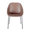 This item: Milo Brown Leatherette Side Chair, Set of 2