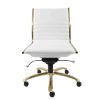 This item: Emerson White Leatherette Armless Low Back Office Chair