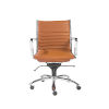 This item: Loring Cognac and Chrome Leatherette Low Back Office Chair