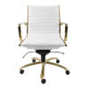 This item: Emerson White Leatherette Low Back Office Chair