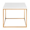 This item: Maeve High Gloss White and Gold Stainless Steel Side Table