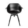 This item: Helia Black Swivel Arm Chair