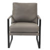 This item: Bettina Gray 25-Inch Lounge Chair