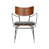 This item: Gensvig Gray 22-Inch Arm Chair