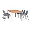 This item: Amazonia Teak Rectangular Patio Dining Table Set, 7-Piece