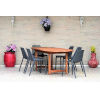 This item: Amazonia Teak Extendable Oval Patio Dining Table Set, 7-Piece