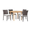 This item: Amazonia Teak Grey Patio Dining Table Set, 5-Piece