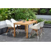 This item: Amazonia Teak 59-Inch Rectangular Dining Table Set, 5-Piece