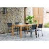 This item: Amazonia Teak Finish Black Rectangular Dining Table Set, 5-Piece