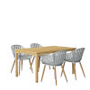 This item: Amazonia Brown Certified Teak Rectangular Patio Dining Set, 5-Piece