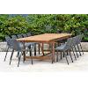This item: Amazonia Teak Patio Dining Table Set, 13-Piece