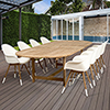 This item: Amazonia Charlotte 9 Piece Teak Double Extendable Rectangular Patio Dining Set