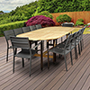 This item: Amazonia Koningsdam 13 Piece Teak Double Extendable Rectangular Patio Dining Set