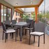 This item: Atlantic Liberty 7 Piece Rectangular Patio Dining Set, Grey