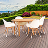 This item: Amazonia Charlotte 5 Piece Teak Round Patio Dining Set