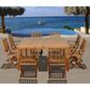 This item: Amazonia Dubai 9 Piece Teak Square Patio Dining Set
