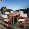 This item: Amazonia Panama 7 Piece Patio Rectangular Dining Set, Khaki